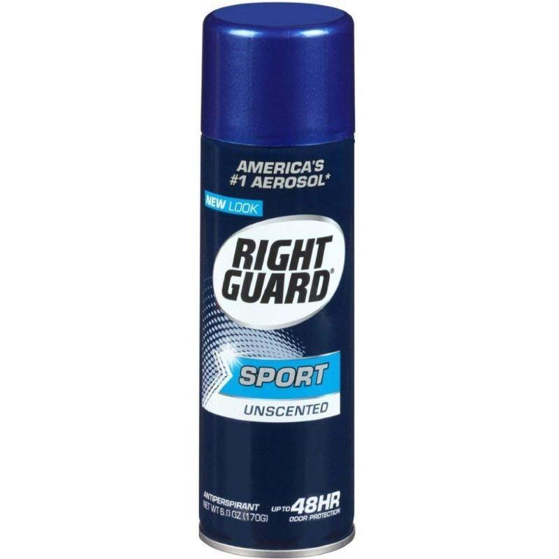 Right Guard Sport Unscented Deodorant, 6 oz