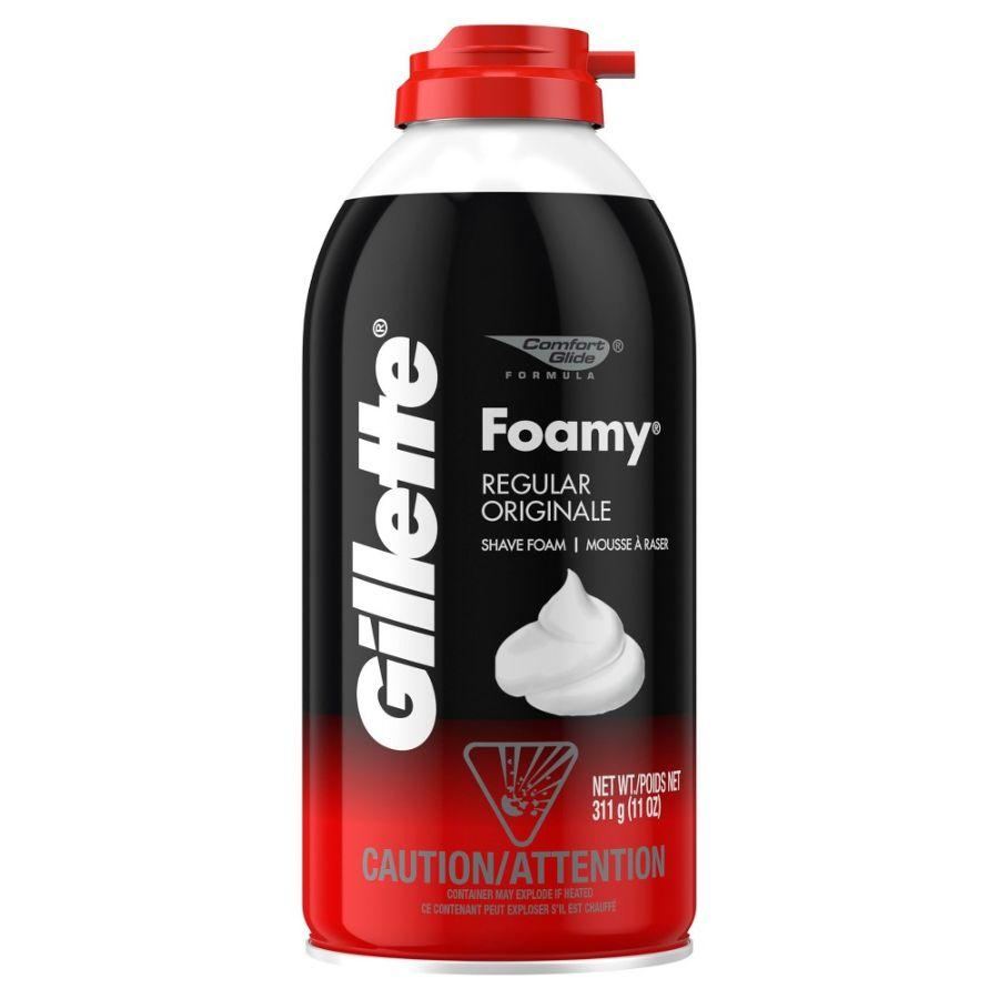 Gillette Foamy Regular Shave Foam, 11 oz