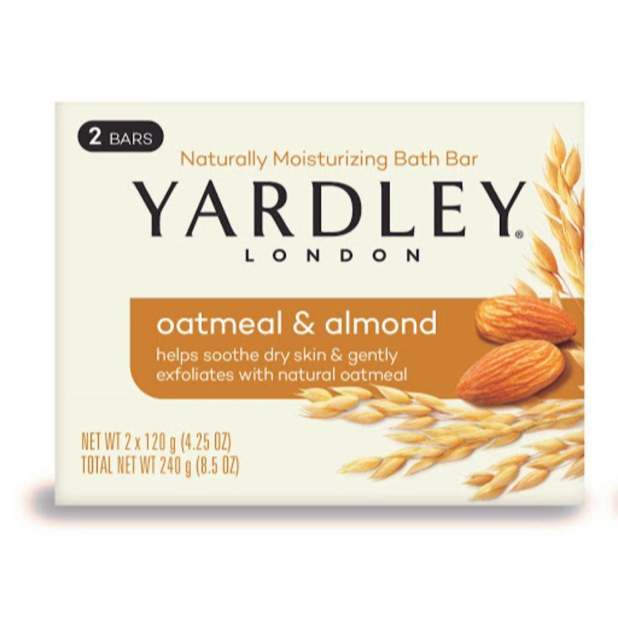 Yardley Bath Bar Oatmeal & Almond, 2 x 4.25 oz