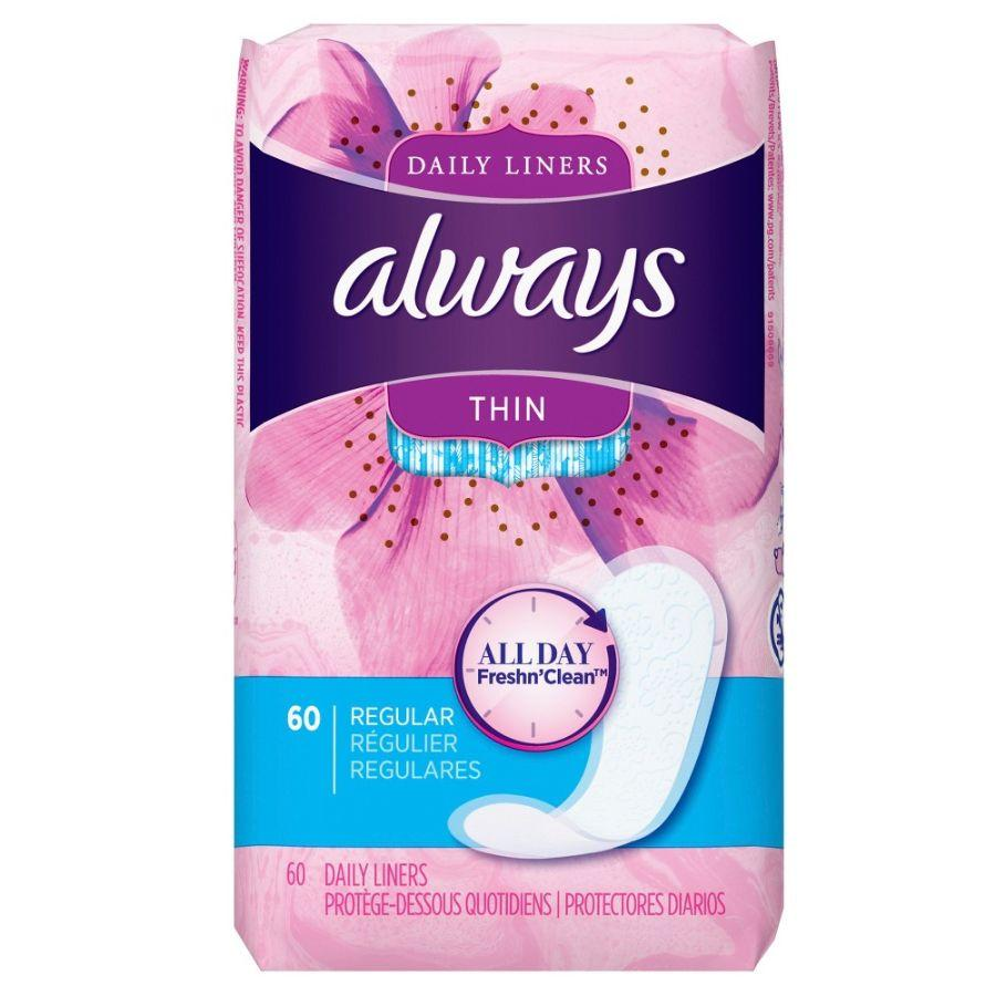 Always Thin Daily Liners, 60 ct