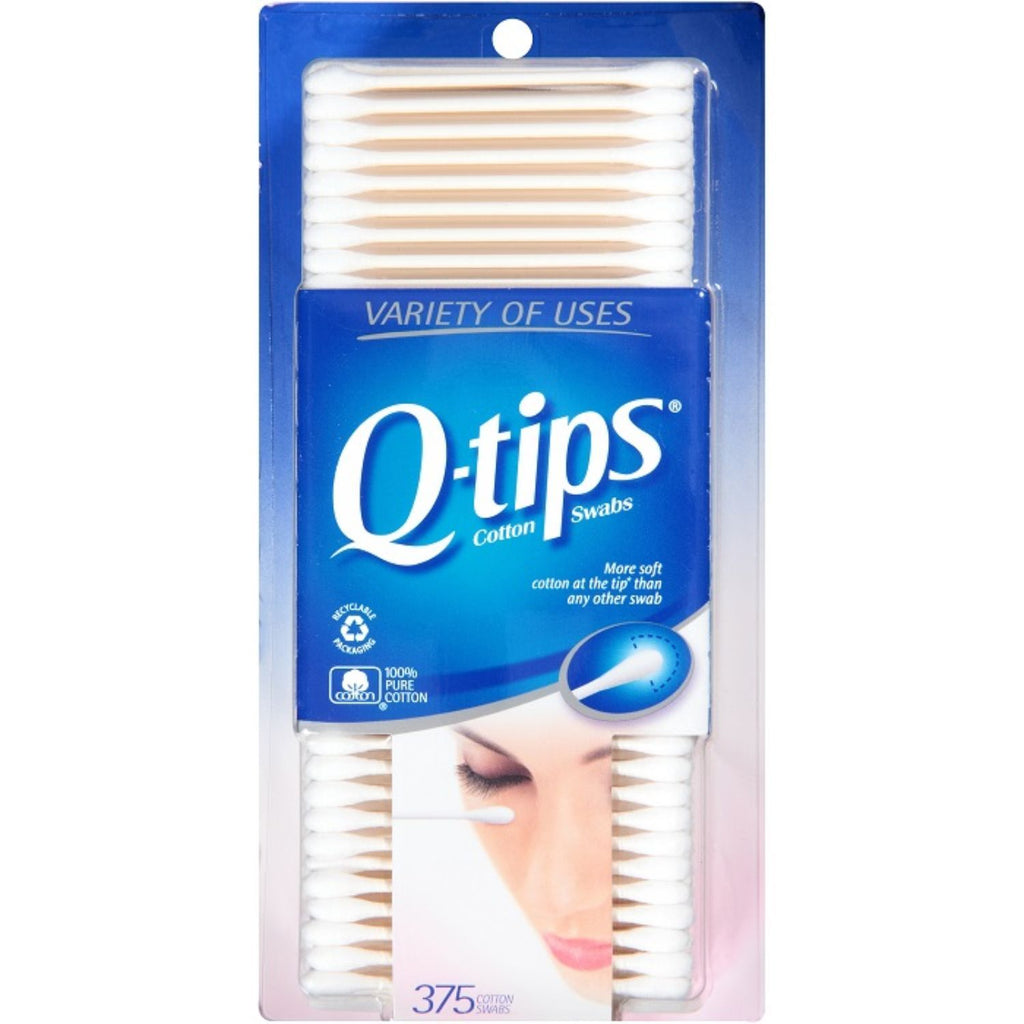 Q-Tips, Cotton Swabs, 375 ct