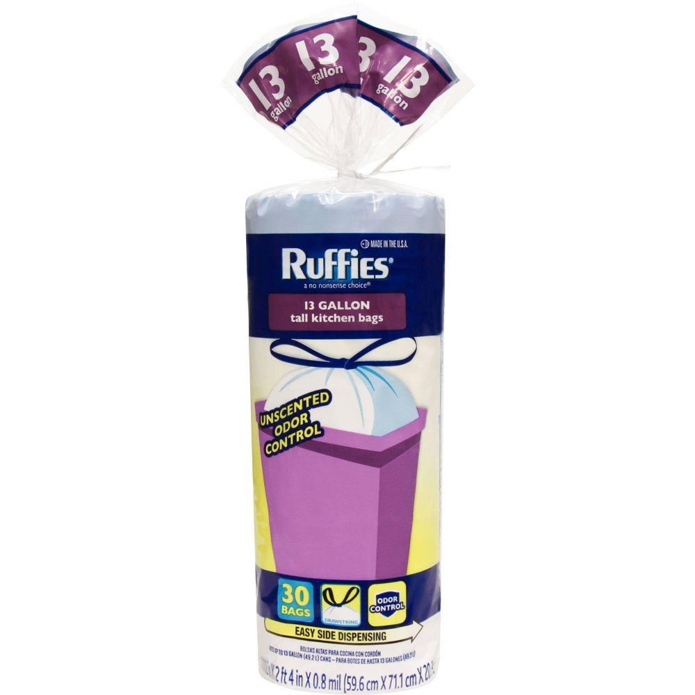 Ruffies, Stretch Tall Kitchen Bags, 17.6 oz