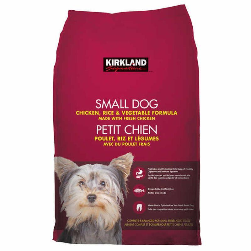 Kirkland Signature Small Dog chicken Rice & Vegetable Formula, 20 lb