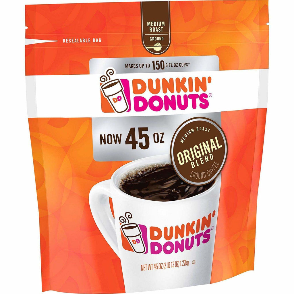 Dunkin Donuts, Original Blend Ground Coffee, 45 oz