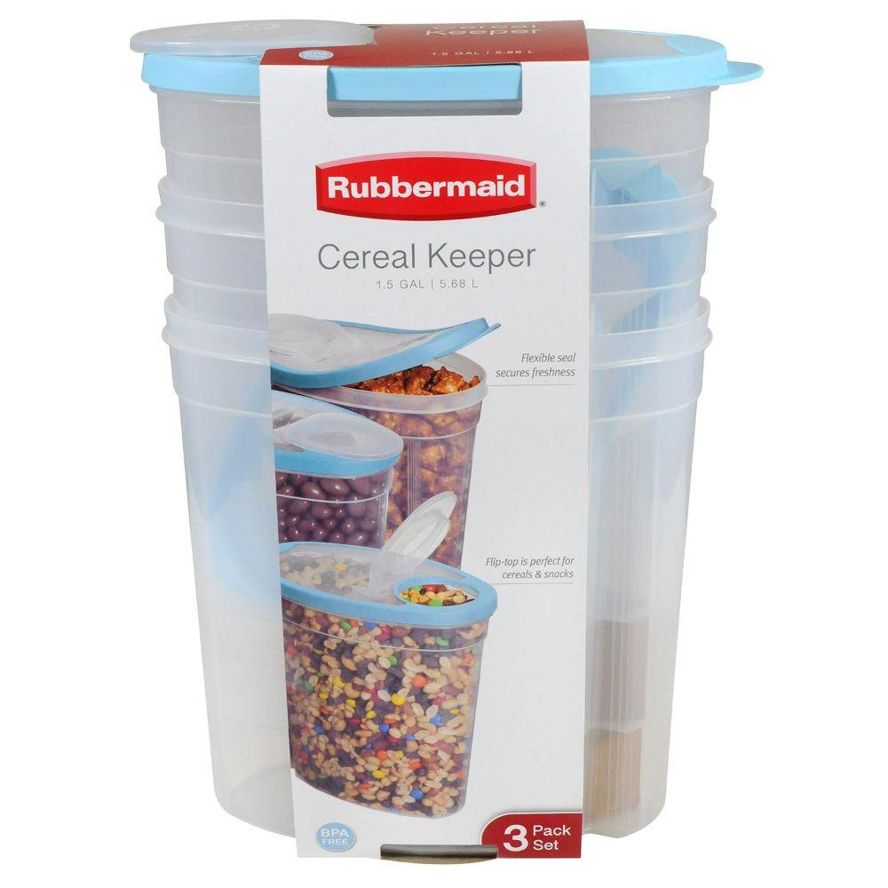Rubbermaid, Cereal Keeper 3pk