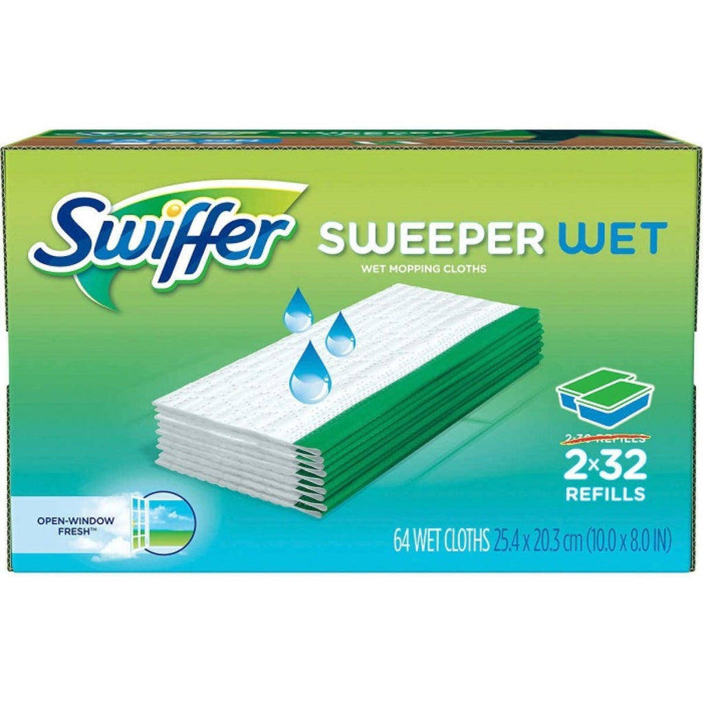 Swiffer, Wet Cloth Refill, 2 x 32 ct