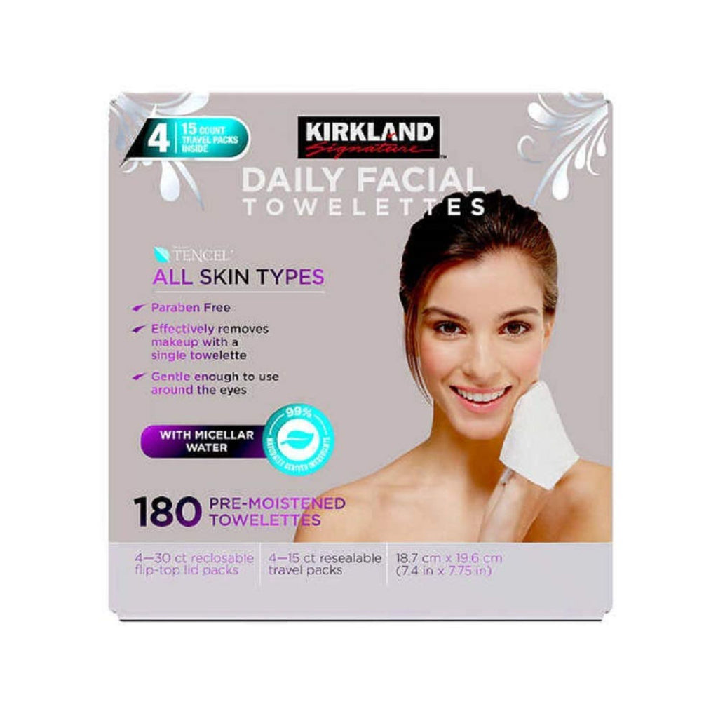 Kirkland Signature, Daily Facial Towelettes Wipes, 6x 30 ct