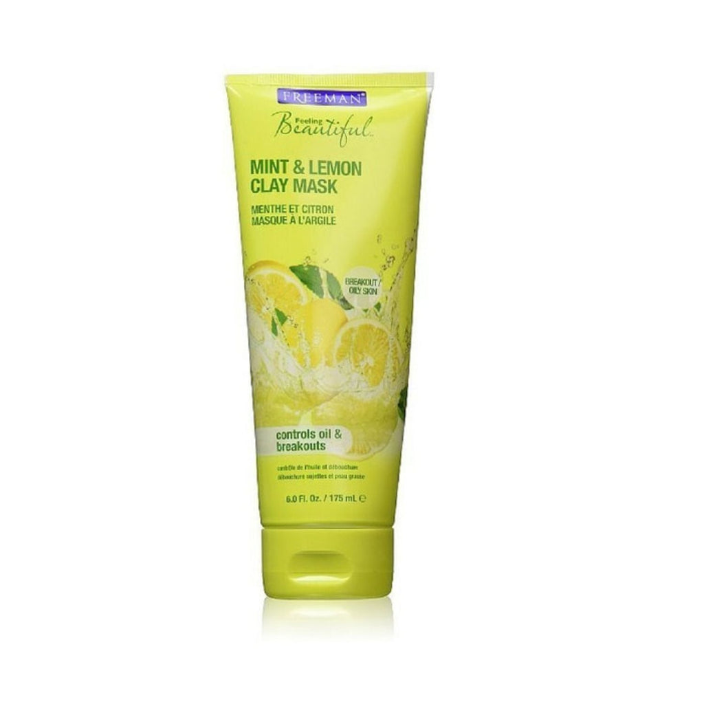 Freeman, Facial Mask Clay Mint & Lemon, 6 oz