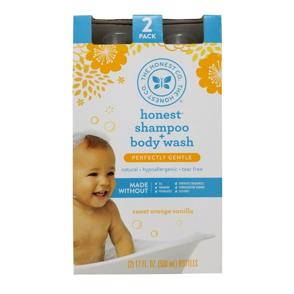 Honest, Baby Shampoo & Body Wash, 2 x 17 oz