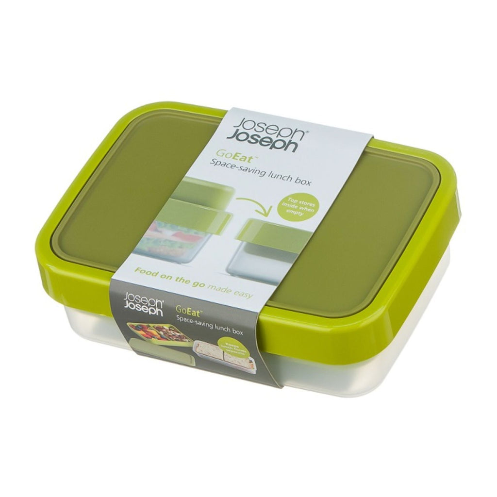 Joseph Joseph, 2-In-1 GoEat Space-Saving Lunchbox, Green
