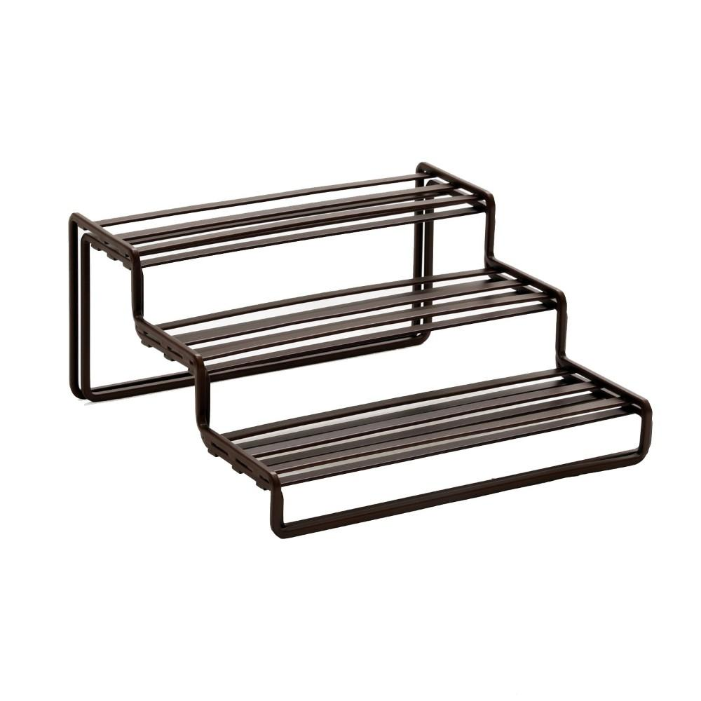 Seville Classics, Expanding Step Shelf 3-Tier, Bronze