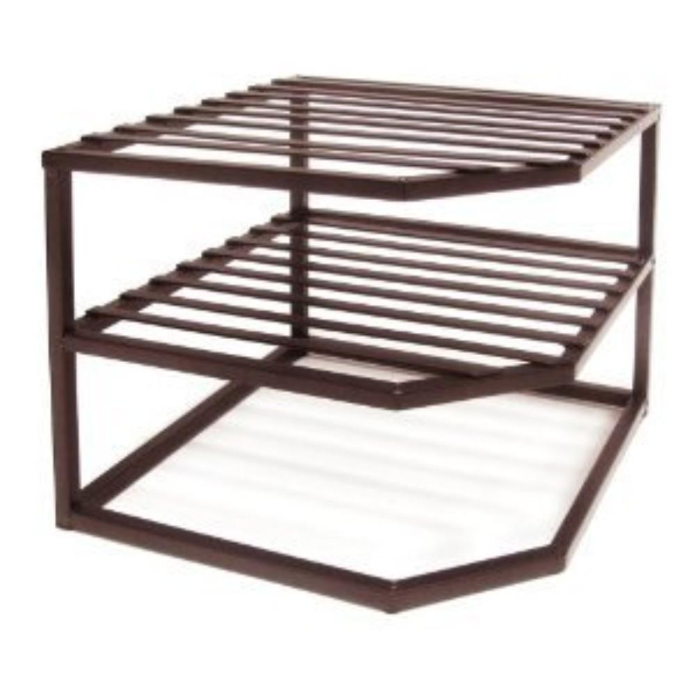 Seville Classics, 2 Tier Corner Shelf, Bronze