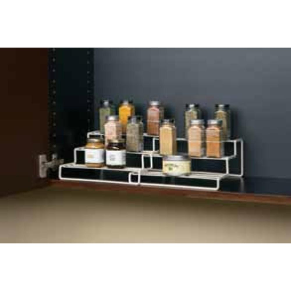 Seville Classics, Expanding Step Shelf 3-Tier, Cream