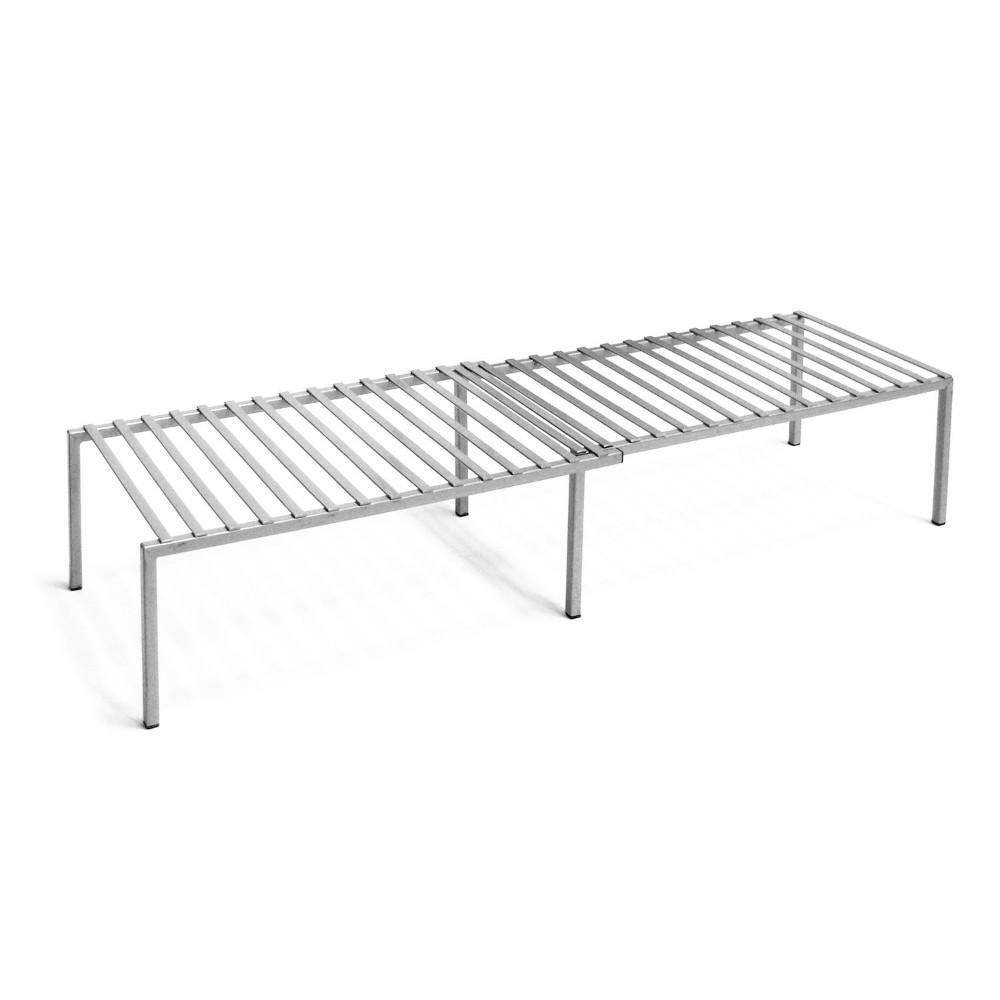 Seville Classics, Expandable Kitchen Shelf, Grey