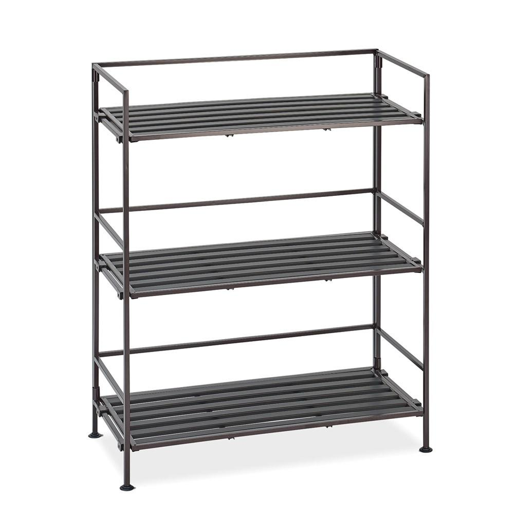 Seville Classics, Wide Shelf 3-Tier Brown, 65x29x81 cm