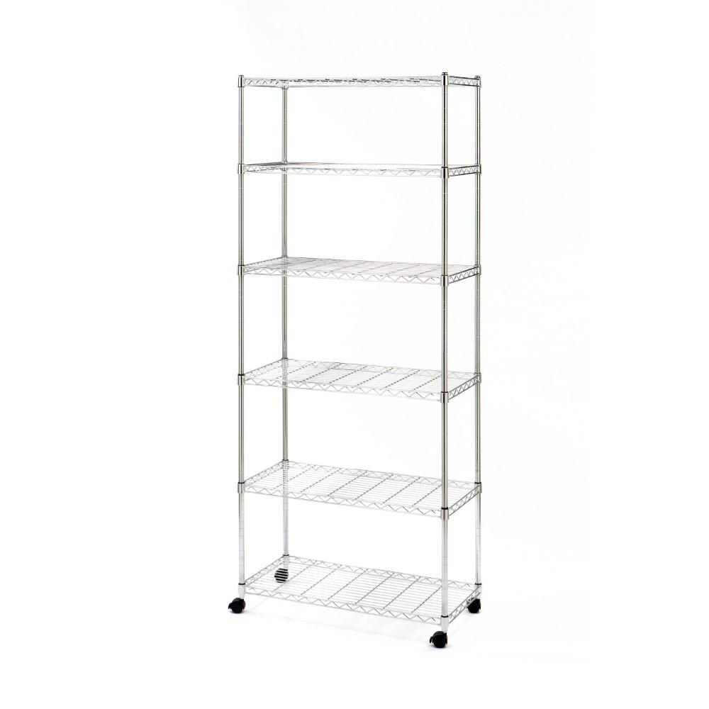 Seville Classics Home Line 6-Tier Wire Shelving