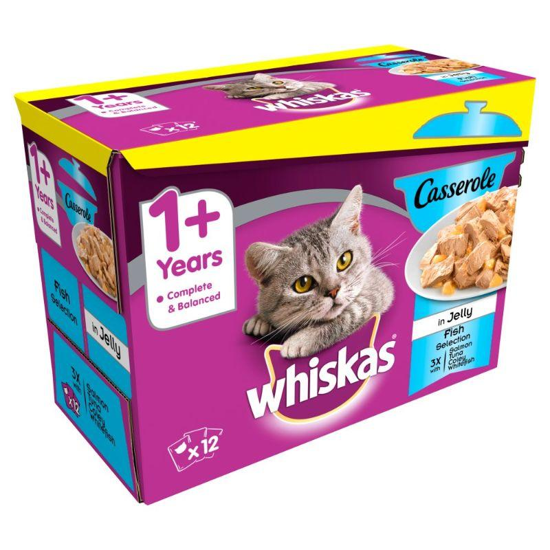 Whiskas 1+ Pouch Fish Selection 12x 85 G