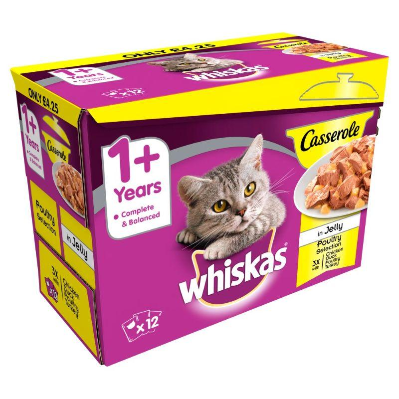 Whiskas 1+ Pouch Poultry Selection 12x 85 G