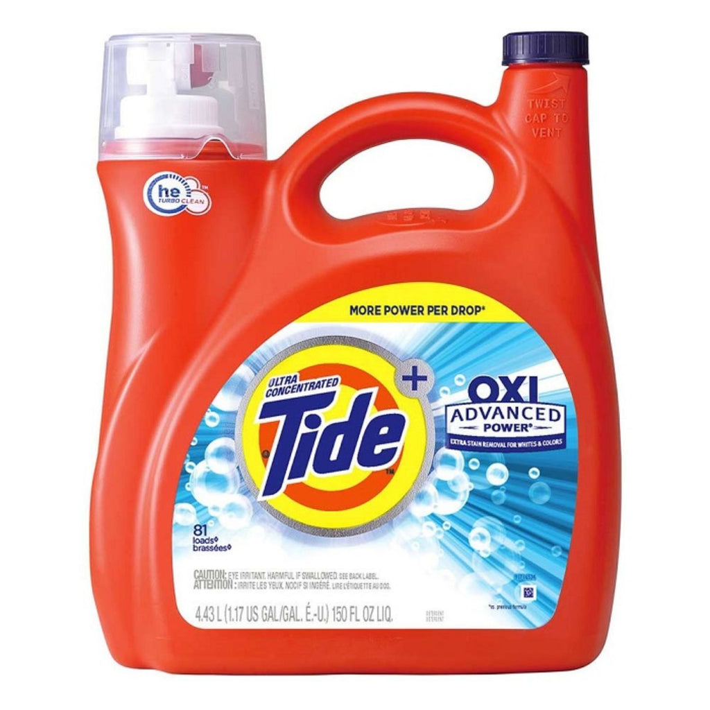 Tide Liquid w Oxi Advanced Power, 150 oz
