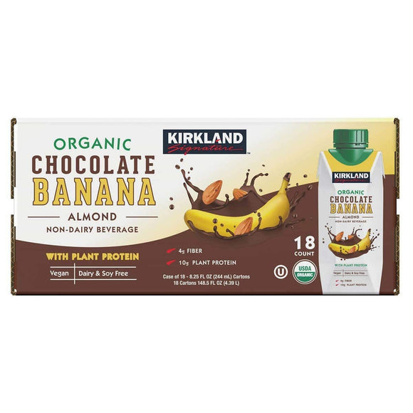 Kirkland Signature, Organic Vegan Chocolate Banana Beverage, 148.5 oz