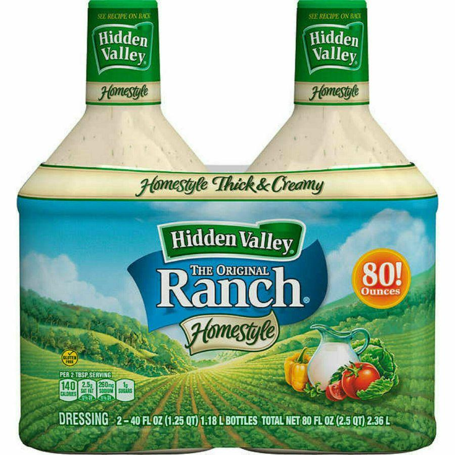 Hidden Valley Gluten Free Ranch Dressing, 2x 40 oz (BB: 27-Feb-2020)