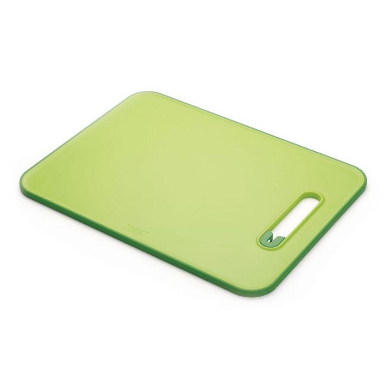 Joseph Joseph Slice & Sharpen Non-slip Chopping Board, Green