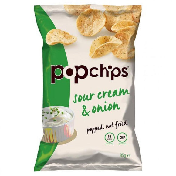 Popchips Gluten-Free Sour Cream & Onion, 85 g