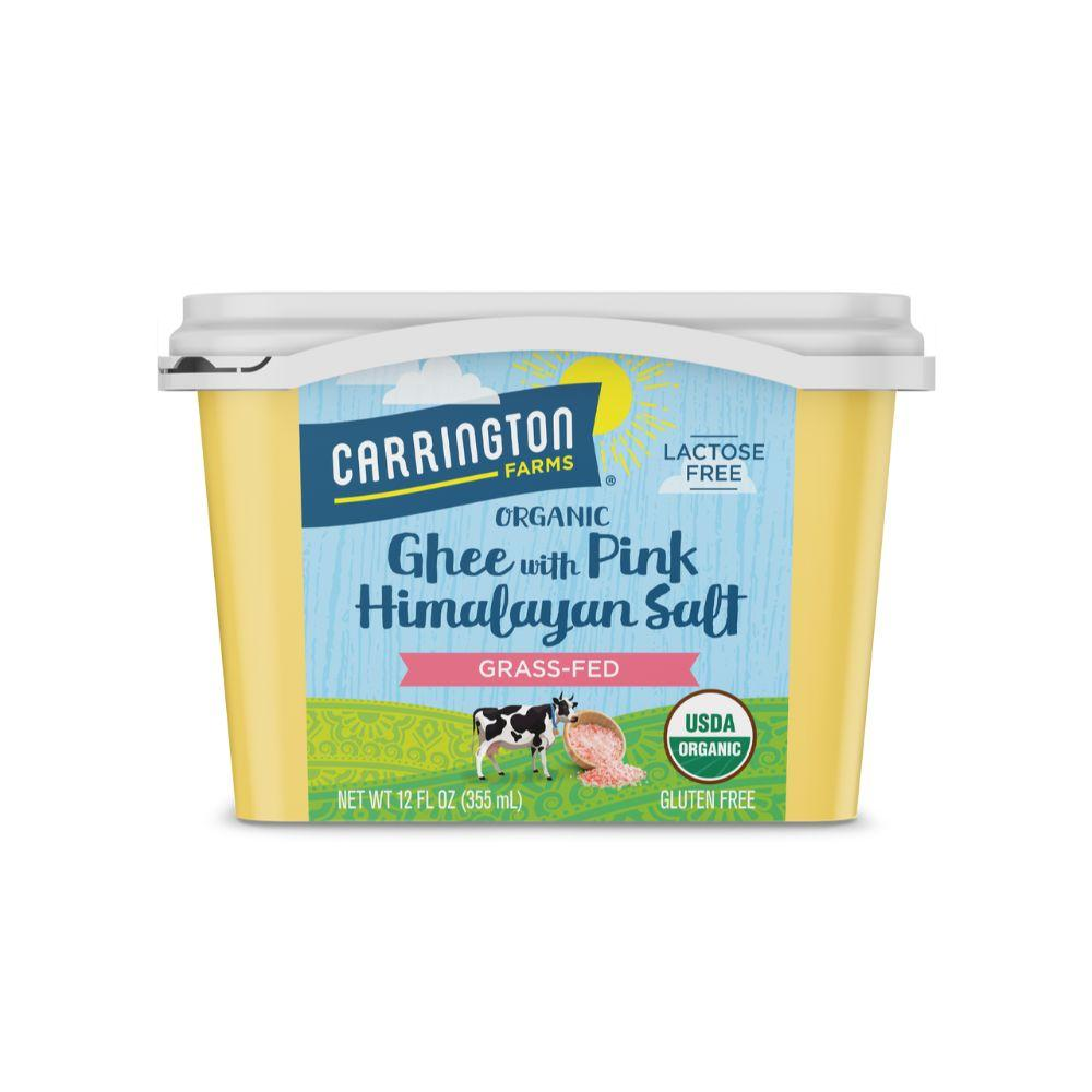 Carrington Farms Organic Ghee w Pink Himalayan Salt, 12 oz