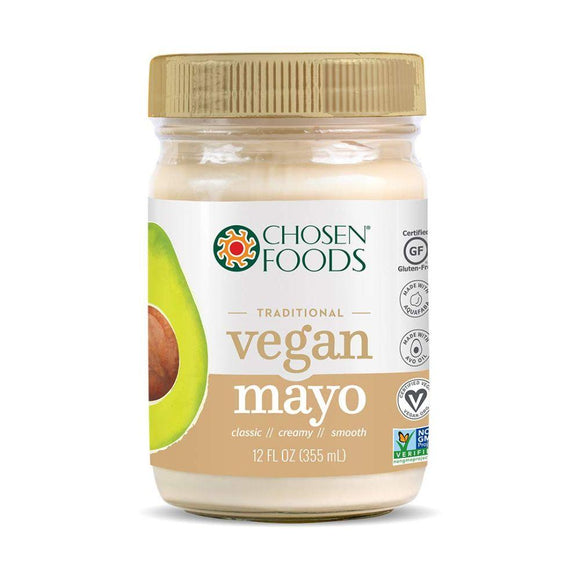 Chosen Foods Gluten Free Traditional Vegan Mayo , 12 oz