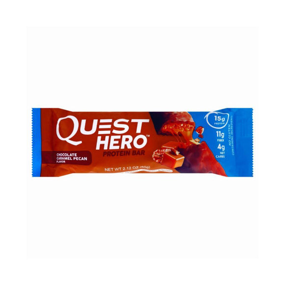 Quest Hero Protein Bar Chocolate Caramel Pecan, 2.12 oz