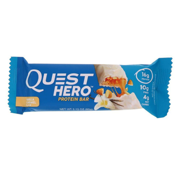 Quest Hero Protein Bar Vanilla Caramel, 2.12 oz