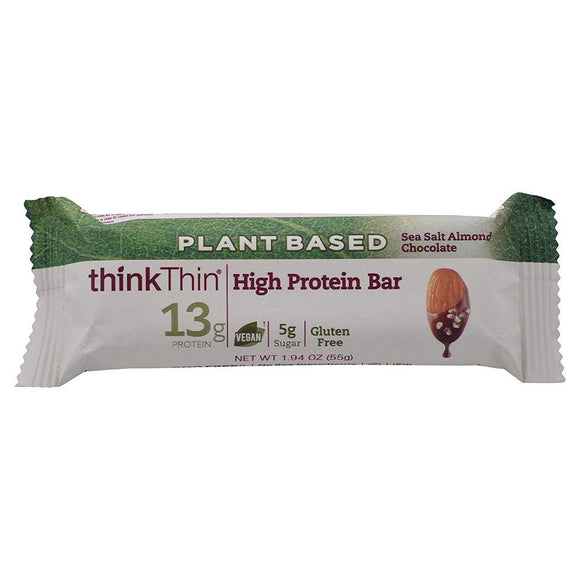 Think Thin Plant Based Sea Salt Almond Chocolate Gluten Free, 1.94 oz