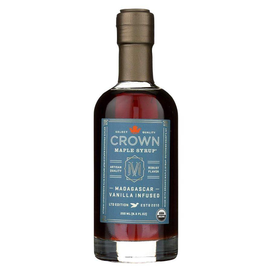 Crown Organic Maple Syrup Vanilla infused, 8.5 oz