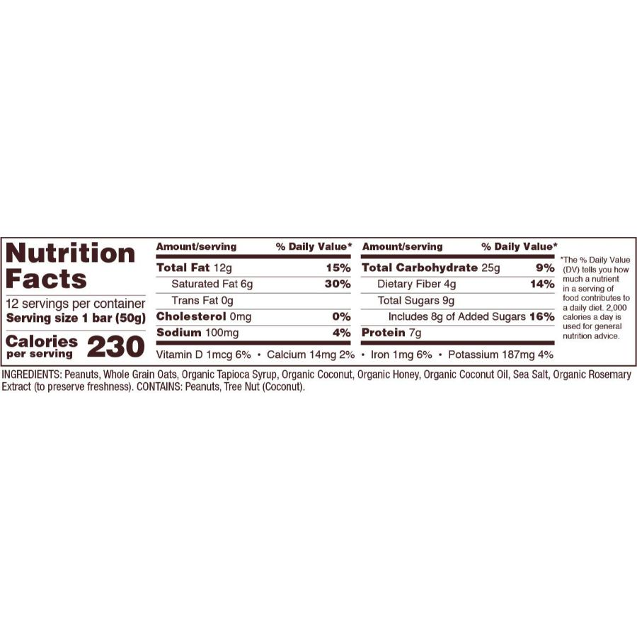Bob's Red Mill Gluten Free Peanut Butter Coconut & Oats Bar, 1.76 oz