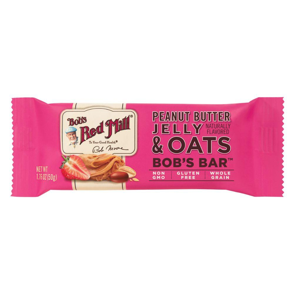 Bob's Red Mill Gluten Free Peanut Butter Jelly & Oats Bar, 1.76 oz