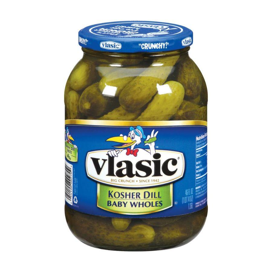 Vlasic Kosher Dill Baby Wholes, 46 oz