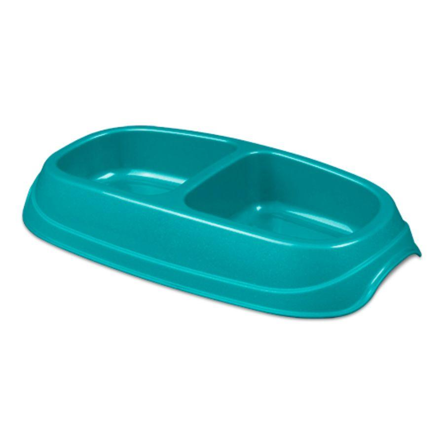 Sterilite Small Double Pet Dish, Blue