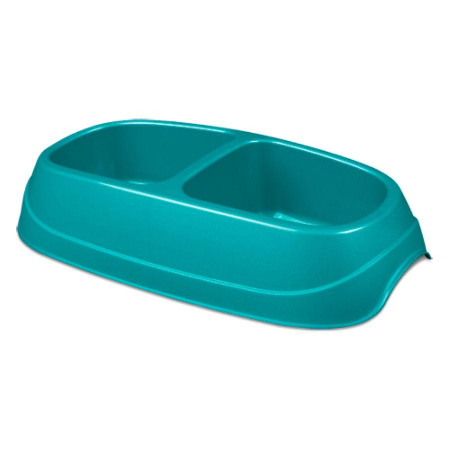 Sterilite Large Double Pet Dish, Blue