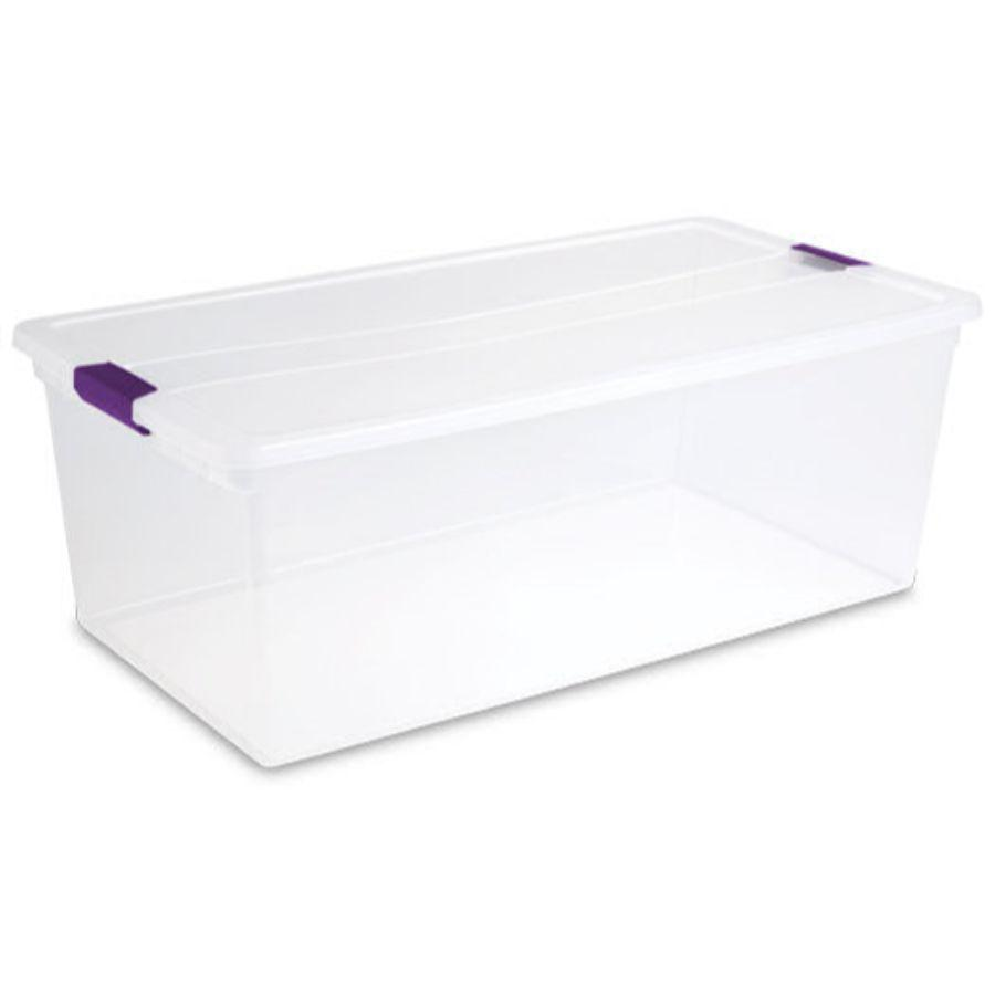 Sterilite Latch Box Clear, 110 Qt