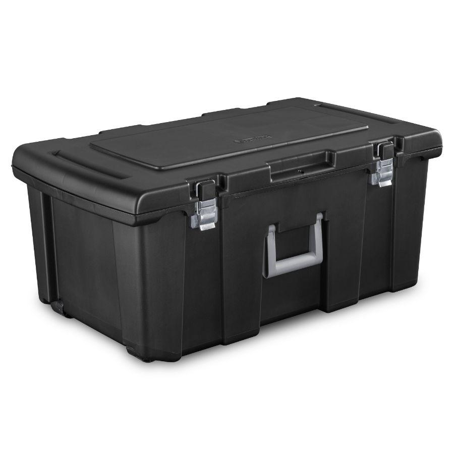 Sterilite Heavy Duty Trunk Black, 79L x 44W x 35H