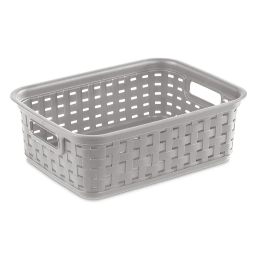 Sterilite Small Weave Basket Grey