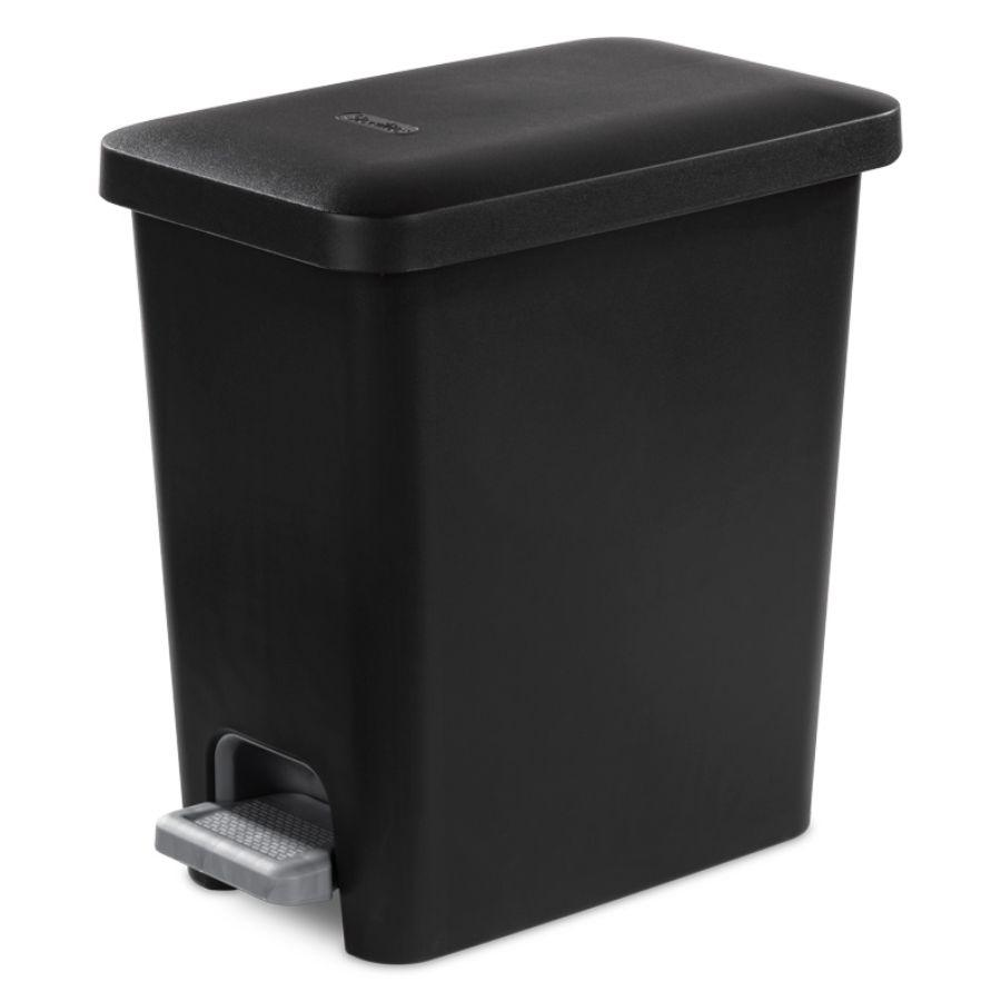 Sterilite Step On Waste Basket Black, 2.7 Gal