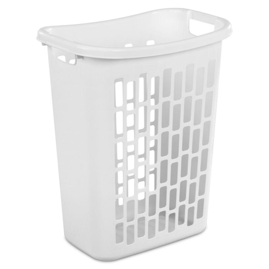 Sterilite Rectangular Open Hamper, White