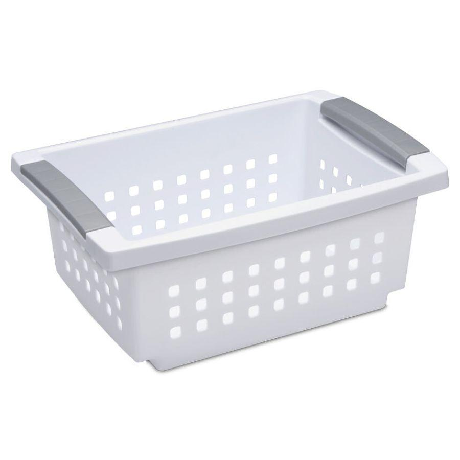 Sterilite Small Stacking Basket, White