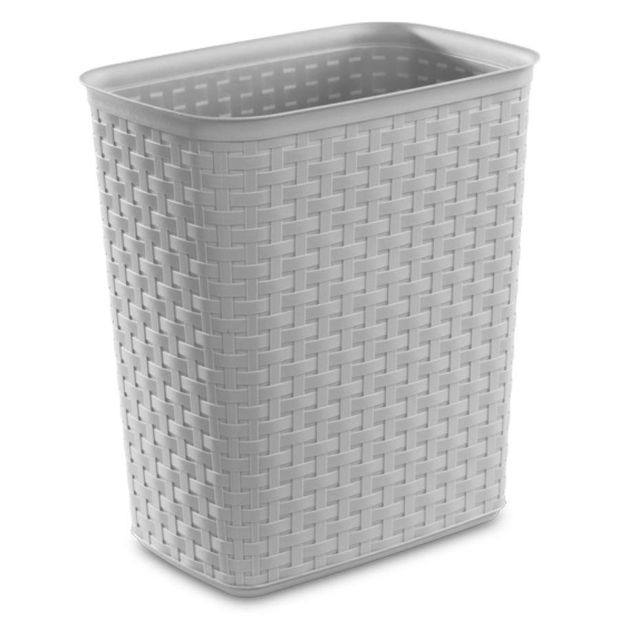 Sterilite Weave Waste Basket Grey, 5.8 Gal