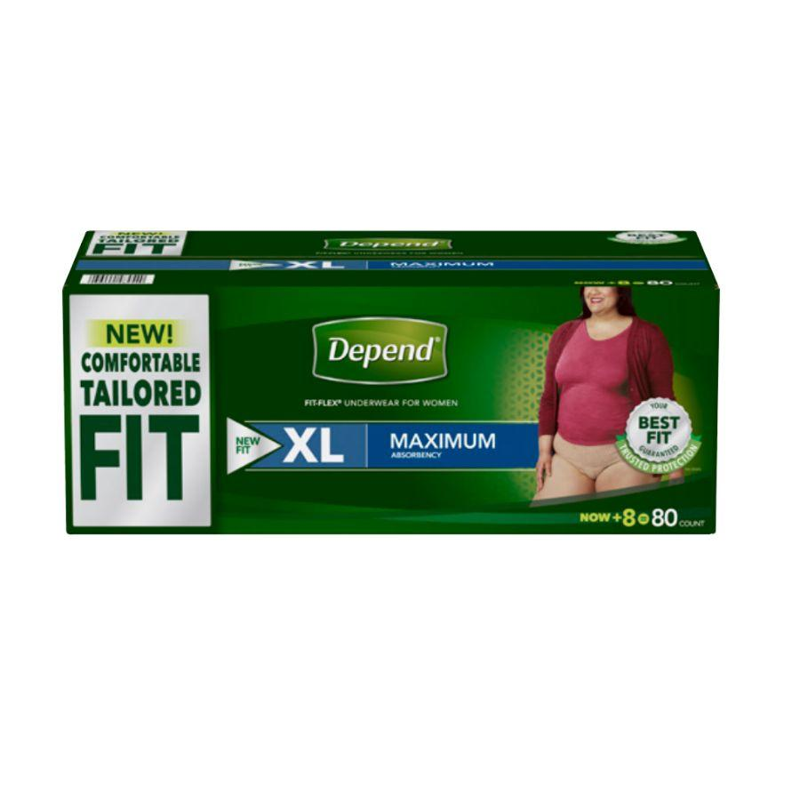 Depend Women Underwear Max Absorbency XLarge 80 ct