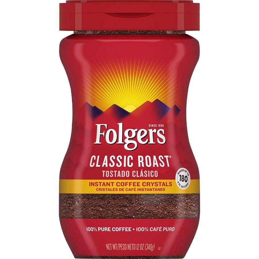 Folgers Instant Coffee Classic Roast, 12 oz