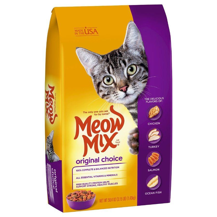 Meow Mix Dry Cat Food Original, 3.15 lb