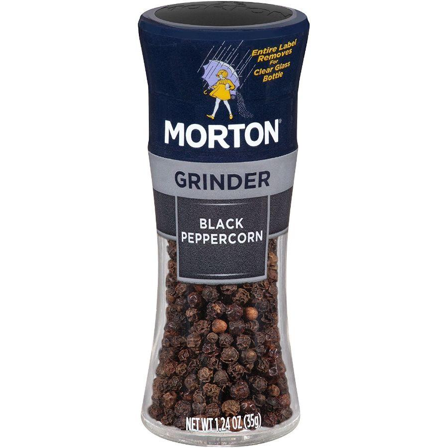Morton Black Peppercorn Grinder, 1.24 oz