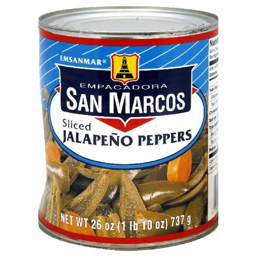 San Marcos Sliced Jalapeno Peppers, 26 oz